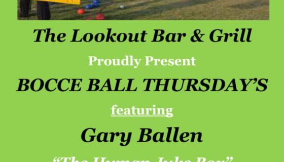 New Bocci Ball flyer