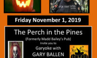The Perch Halloween Flyer