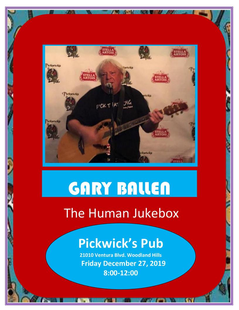 New Pickwick's Pub Flyer